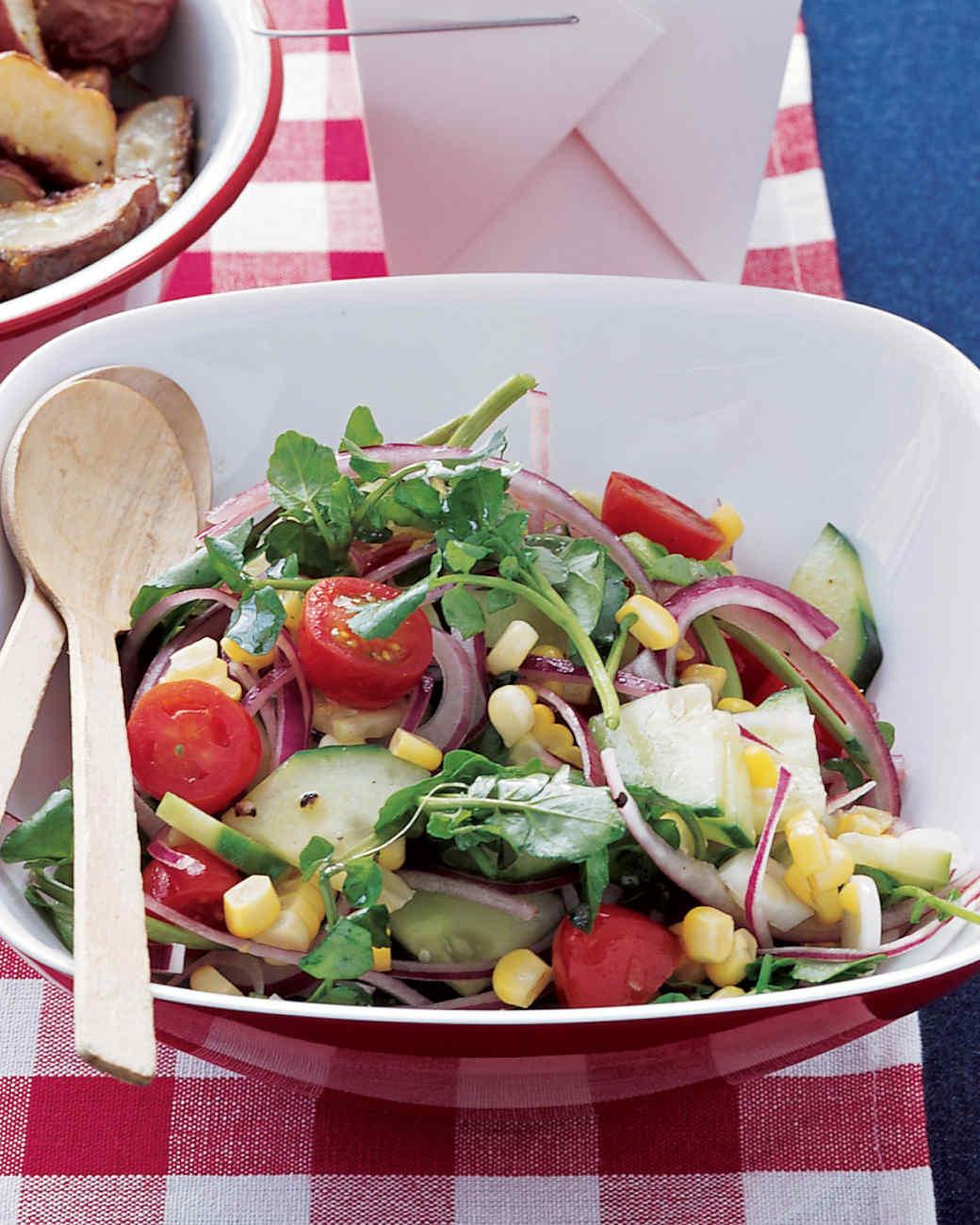 Corn and Watercress Salad