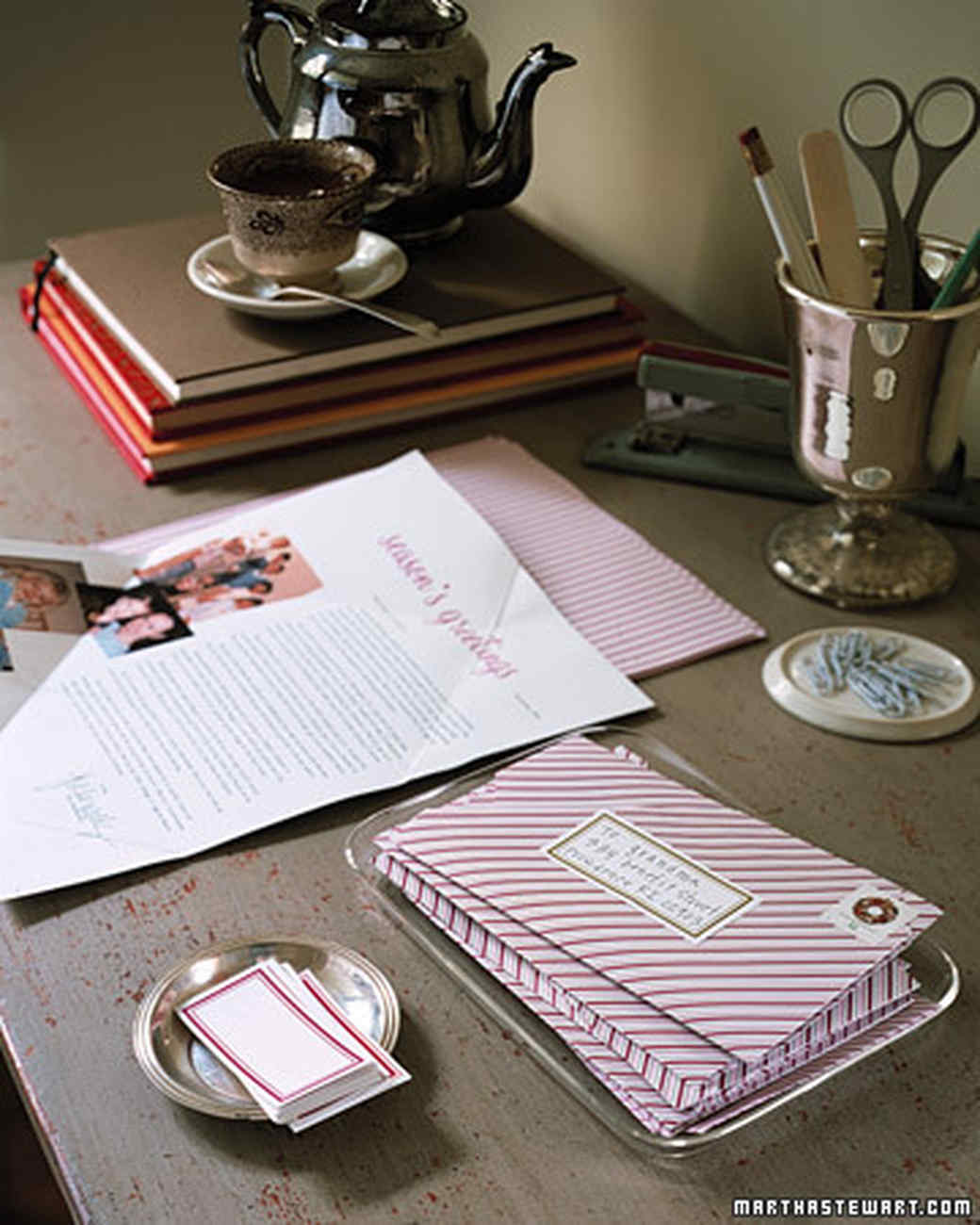 EnvelopeFold Holiday Letter  Martha Stewart