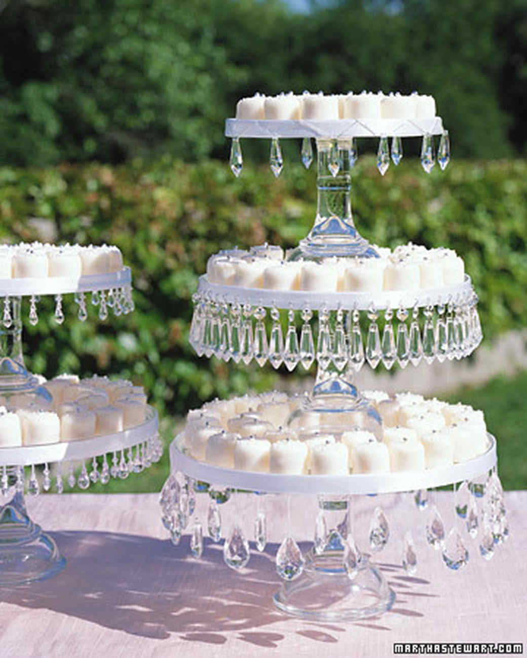 how to make a wedding cake stand out of styrofoam jeweled cake stands martha stewart 15898