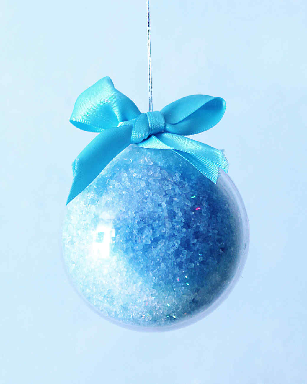 blue bath bomb ornament