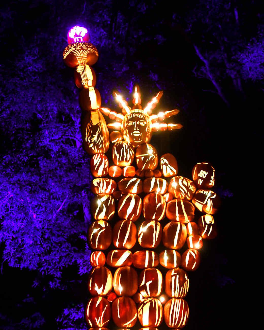 Pumpkin Display at Blaze on Croton on Hudson New York