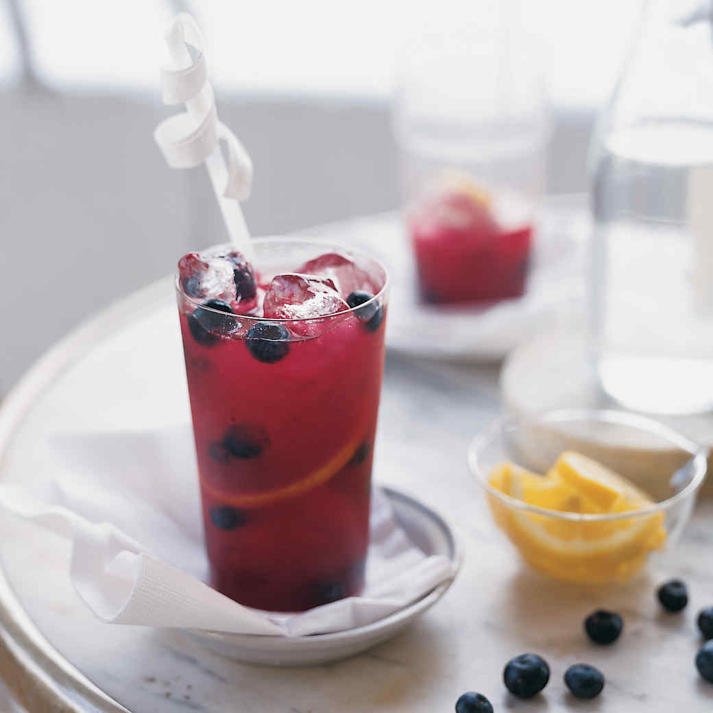 Blueberry-Mint Lemonade