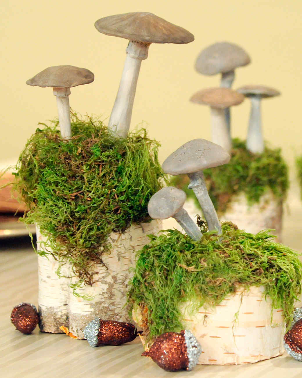 Mushroom Table Decorations & Video | Martha Stewart