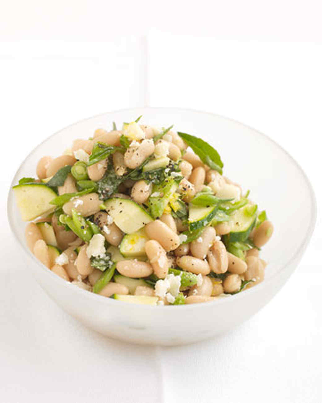 White-Bean Salad with Zucchini and Parmesan Recipe ...