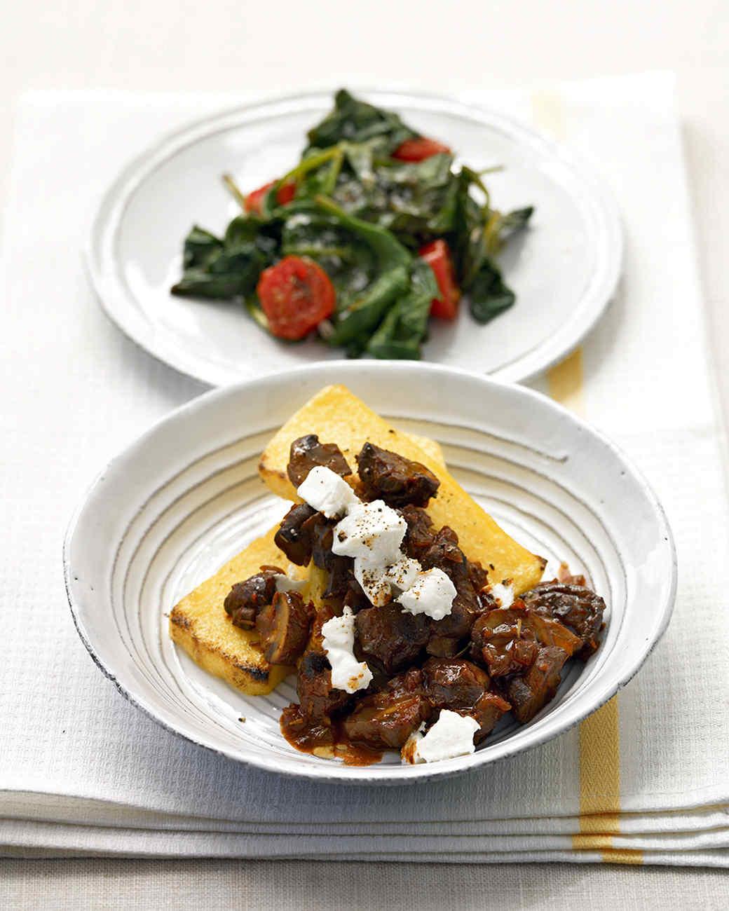 Broiled Polenta with Mushroom Ragout