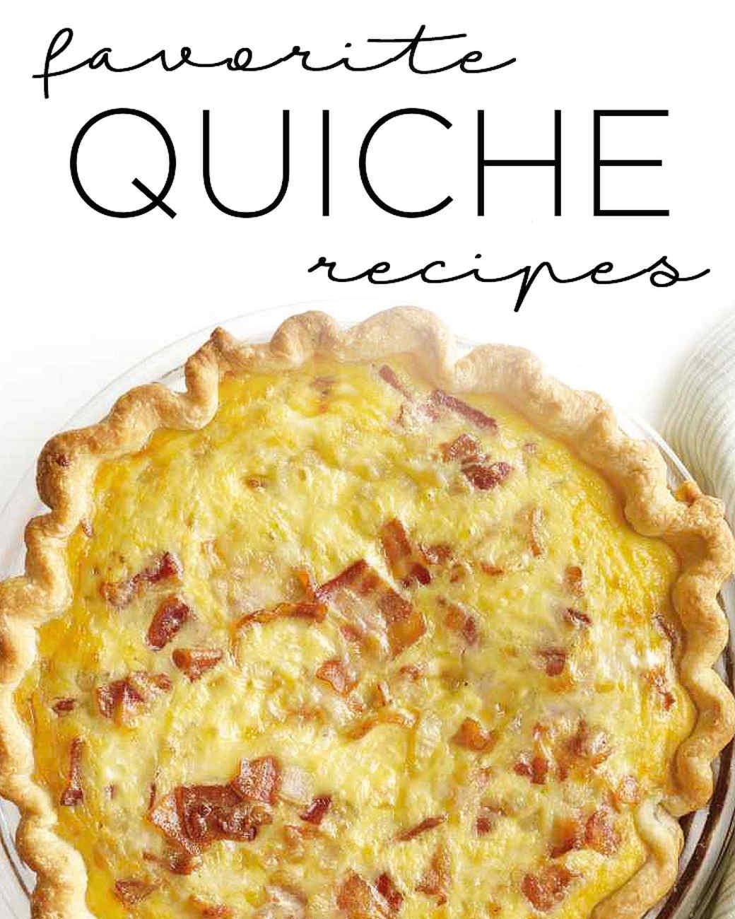 Favorite quiche recipes martha stewart bacon cheese quiche forumfinder Gallery