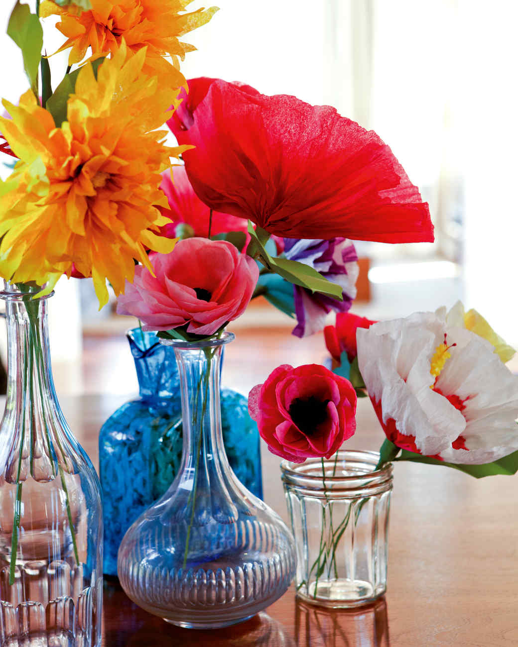How to make crepe paper flowers martha stewart diy flowers mightylinksfo