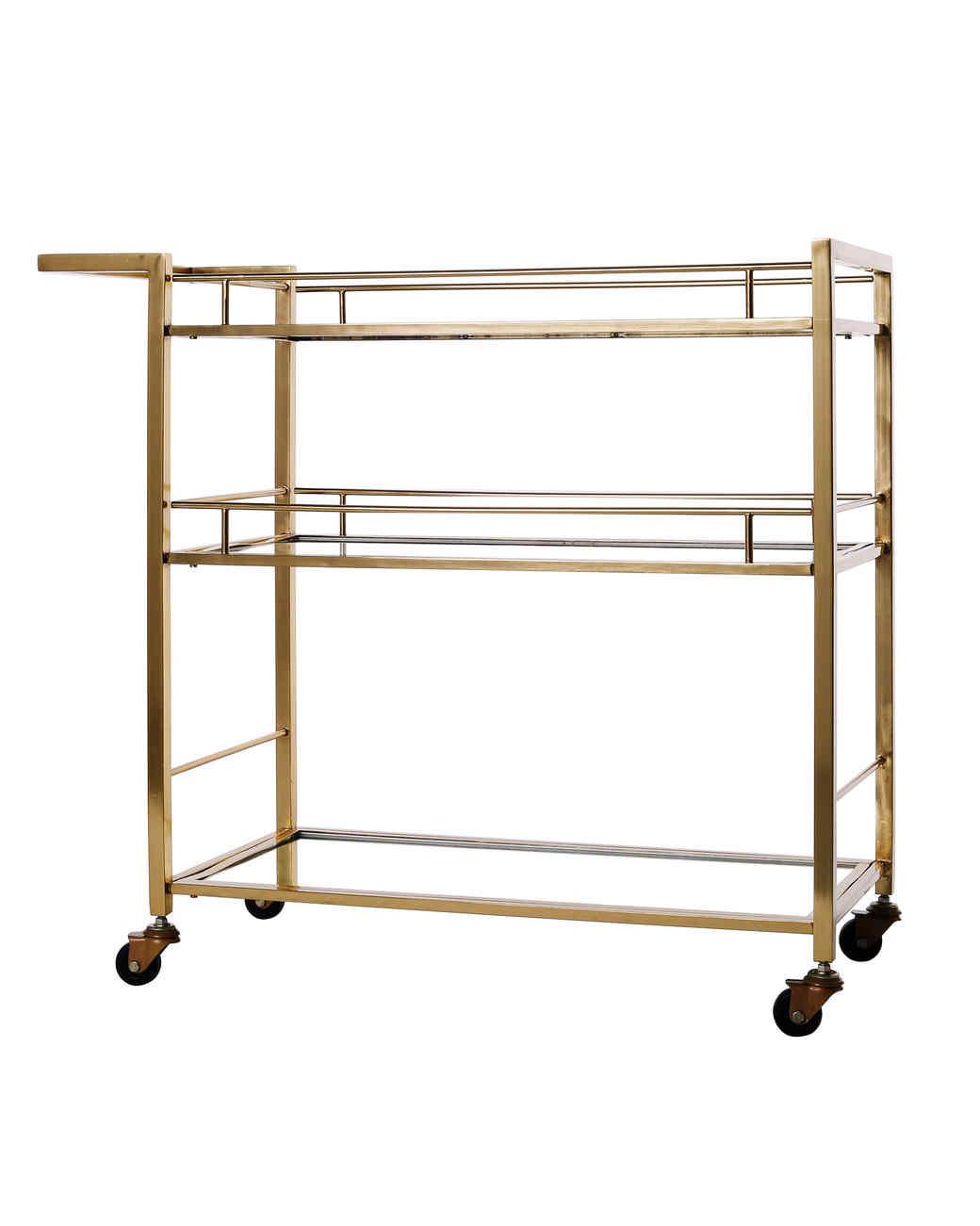 gold bar cart gift guide 2017 home