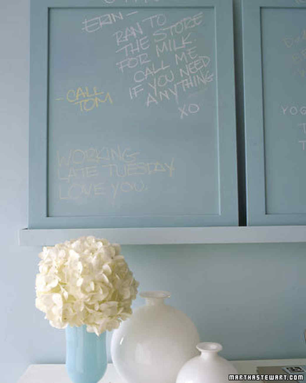 Chalkboard Paint Home Helpers | Martha Stewart