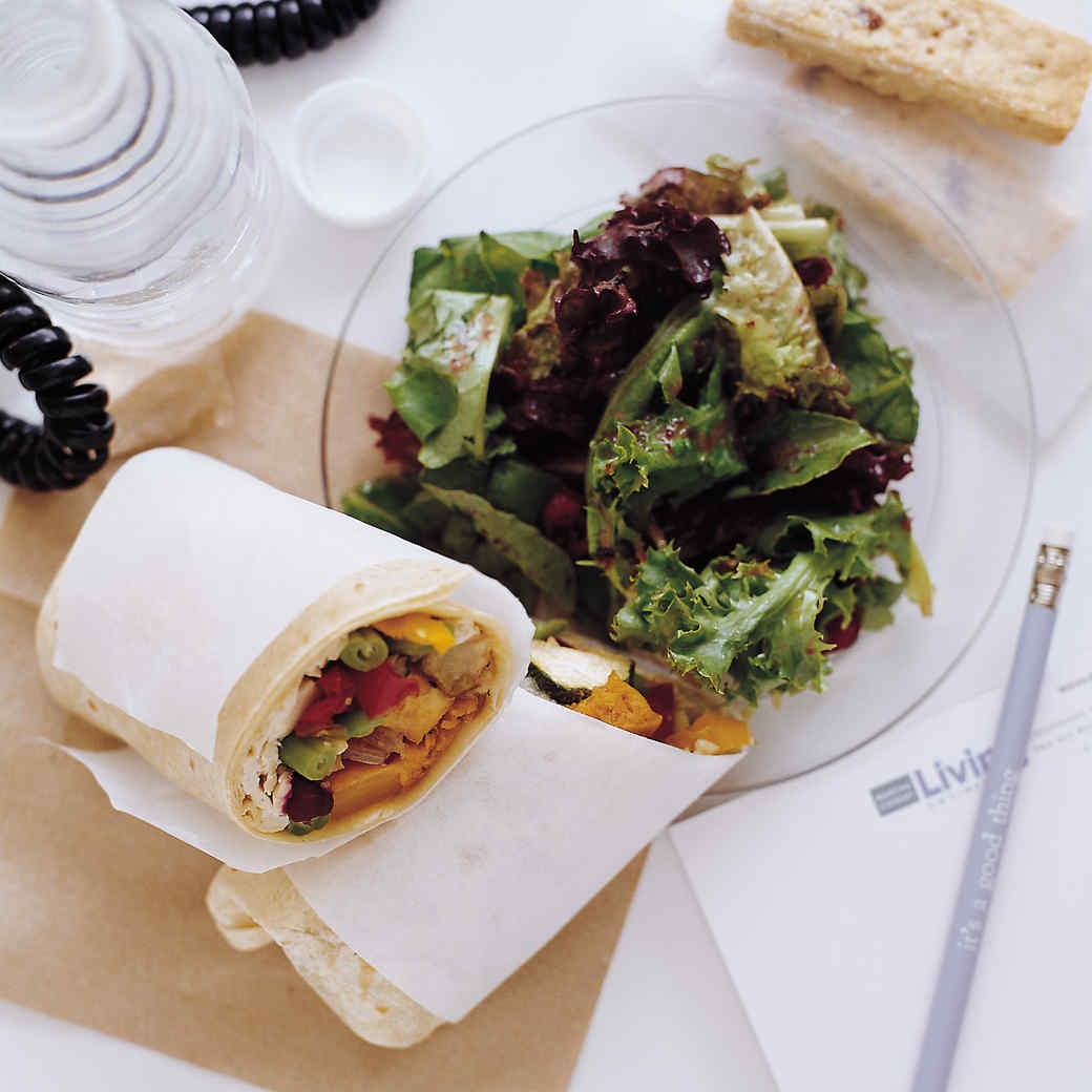 Roasted Vegetable and Chicken Wrap