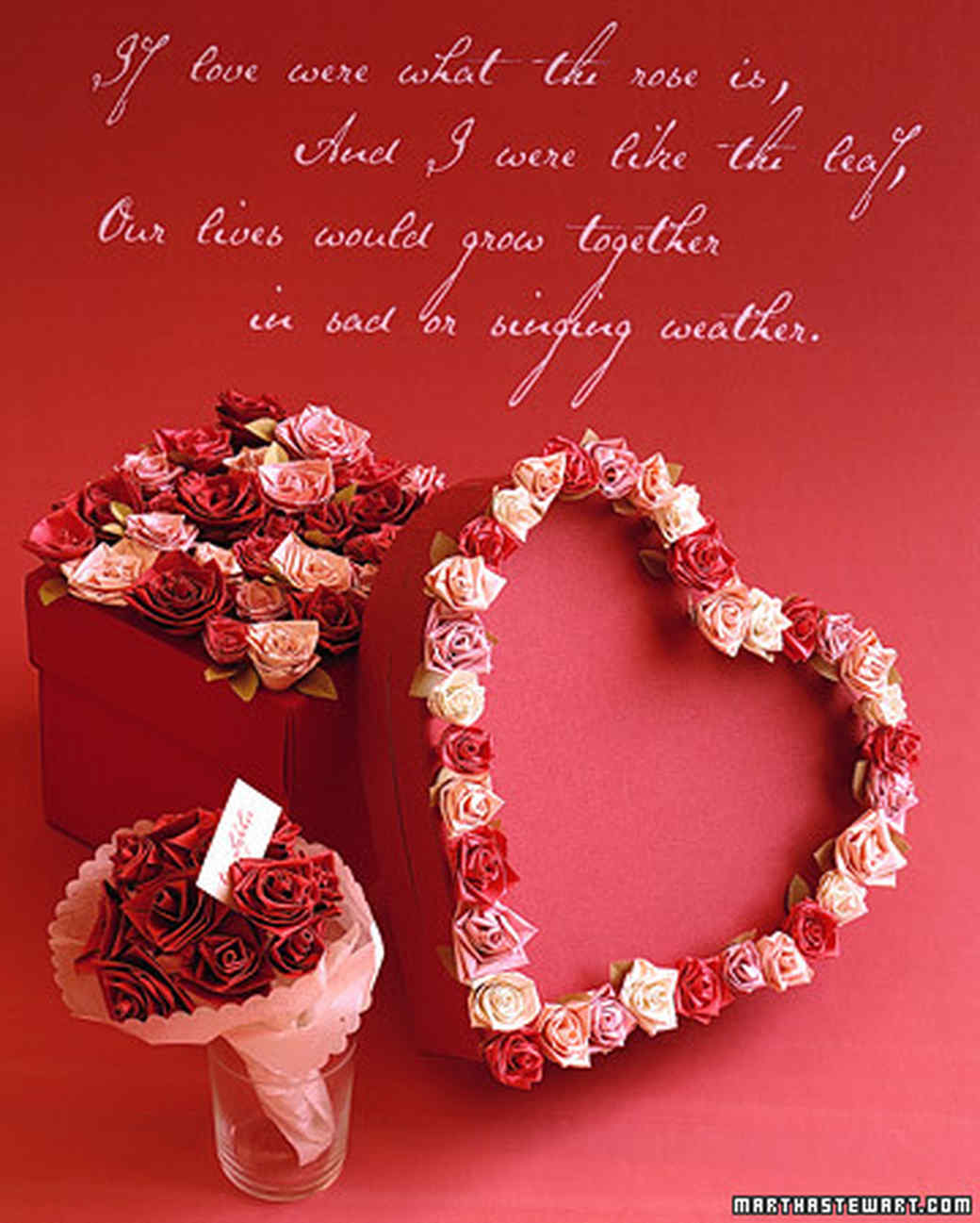 Quilling Valentines Flowers Martha Stewart