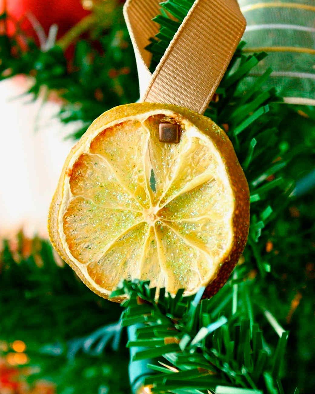 Glittered Fruit Ornaments
