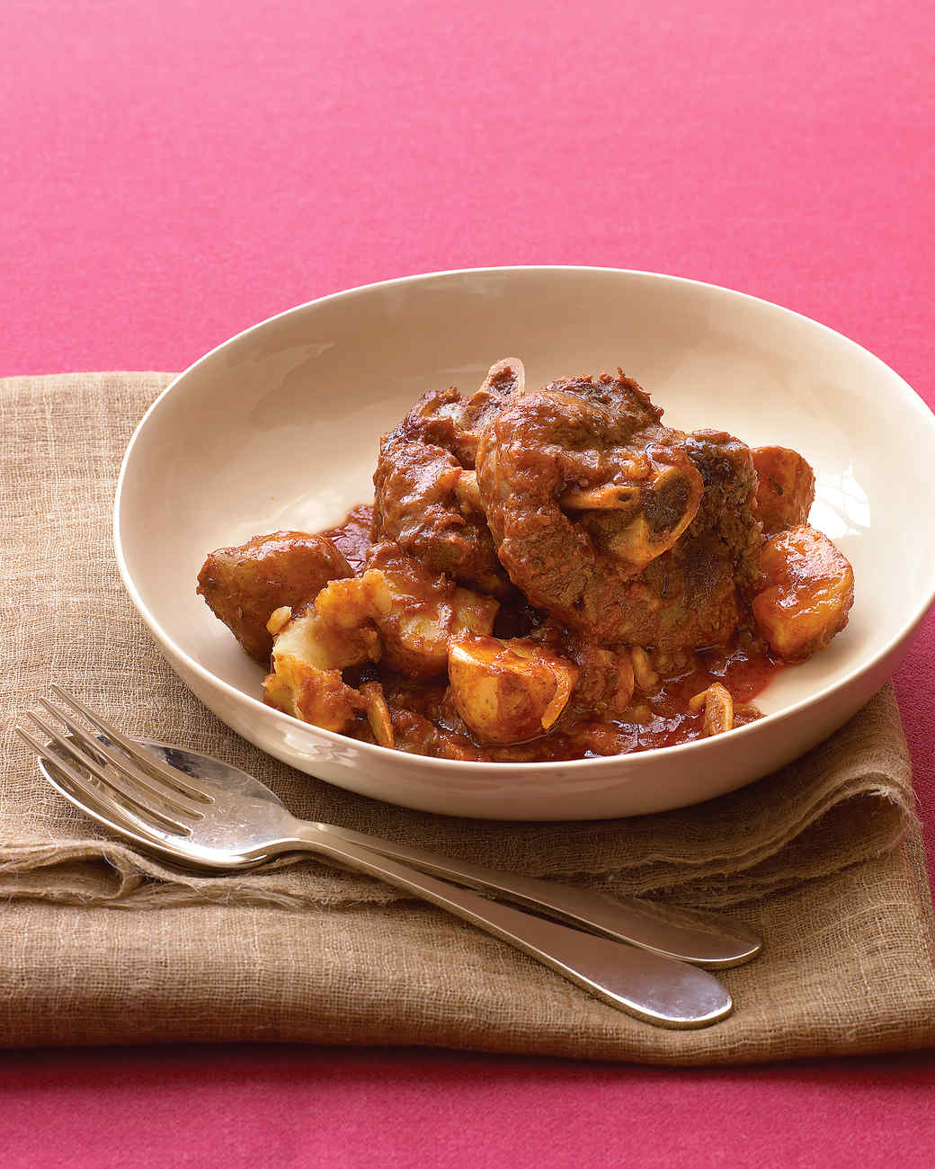Lamb Shanks and Potatoes Recipe | Martha Stewart