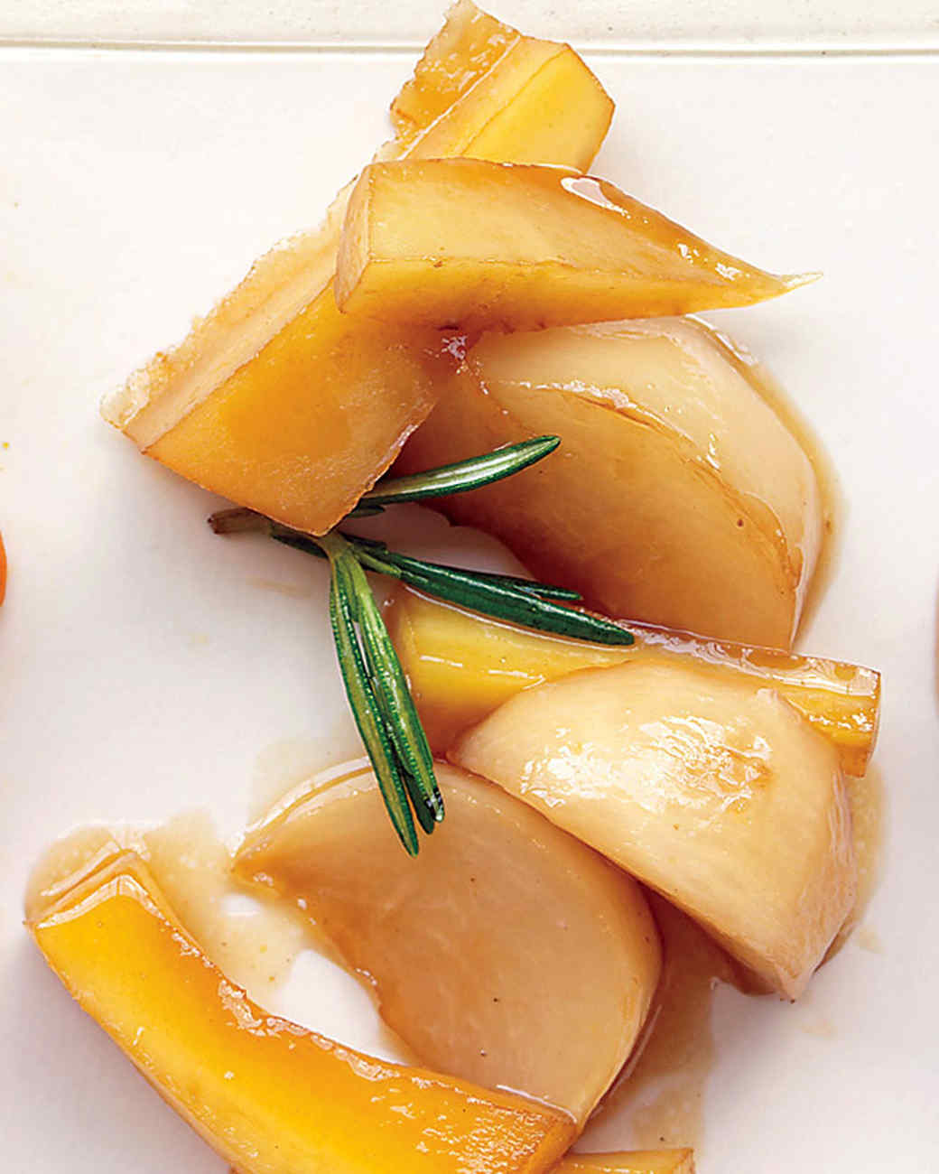 Glazed Turnips and Parsnips with Maple Syrup