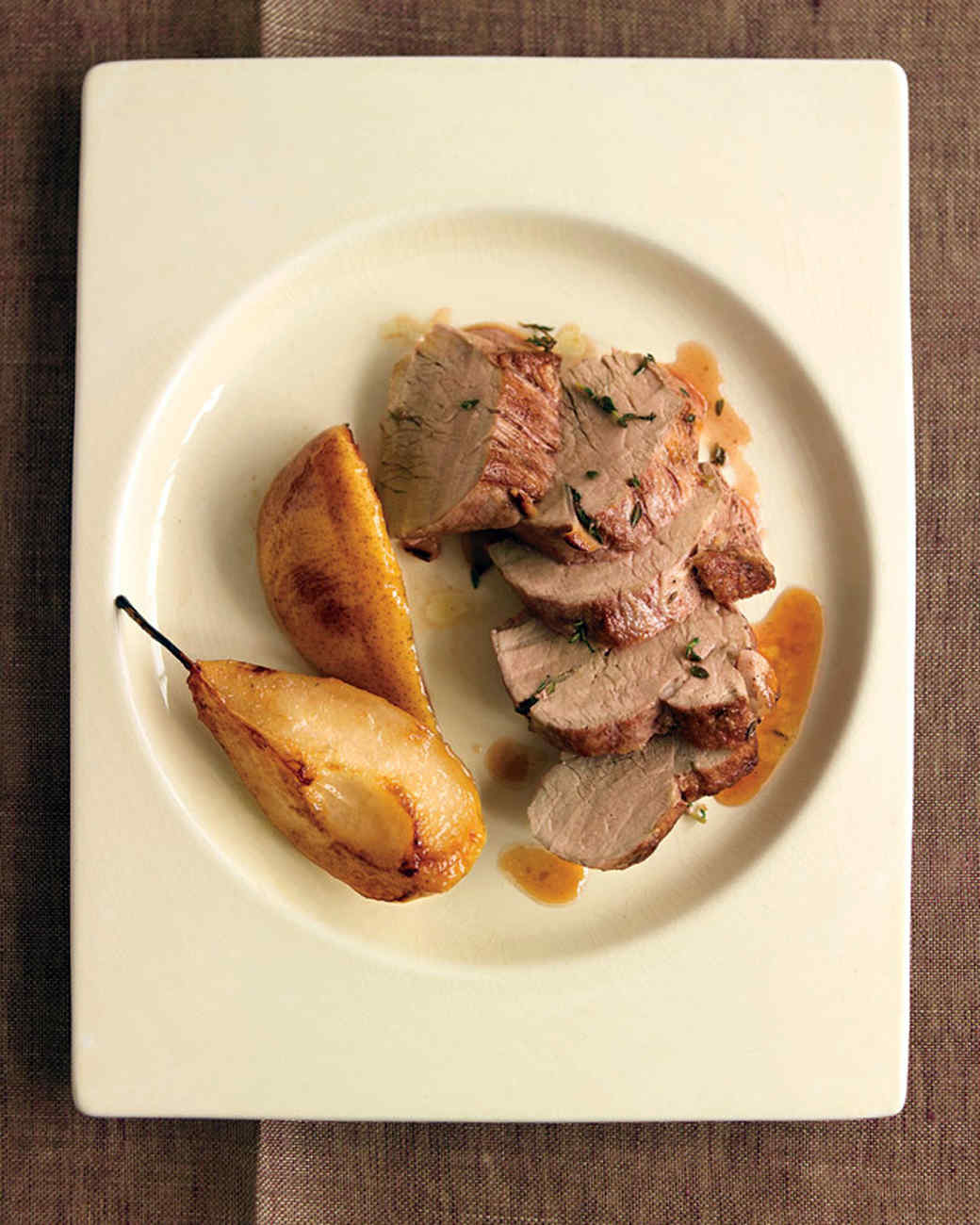 Herb-Roasted Pork Tenderloin with Pears