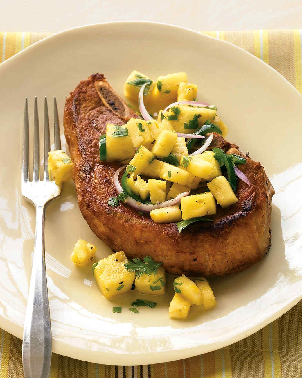 Pork Chop with Pineapple Salsa
