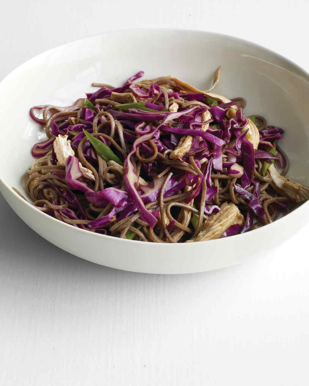 Soba Noodle Salad with Chicken and Scallions