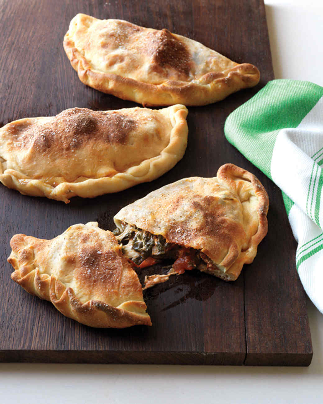 Spinach and Meatball Calzones