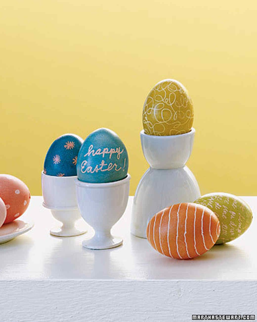 Wax Resist Egg Dyeing Techniques Martha Stewart