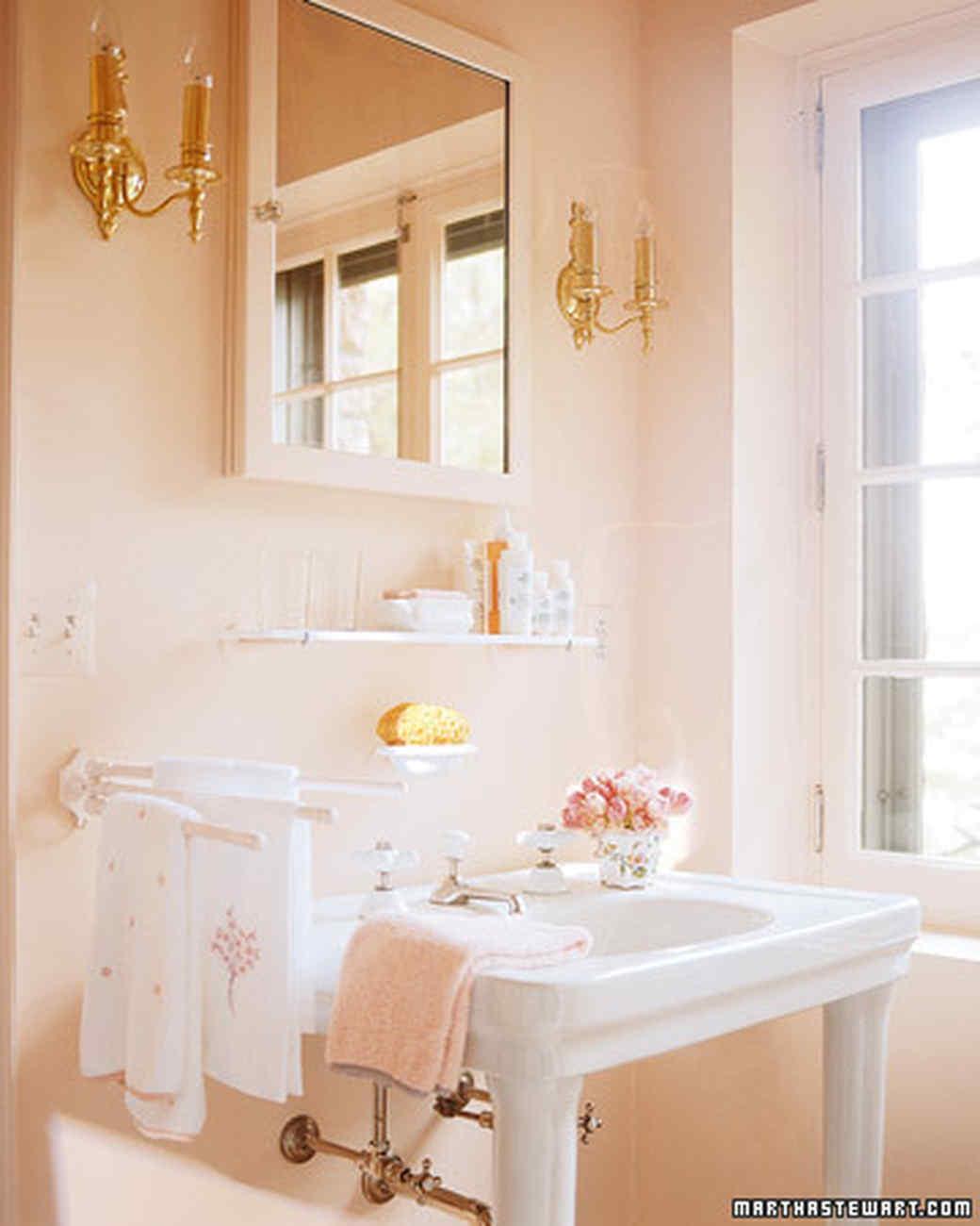 Bright Pink Paint Samples Kitchen Towels: Martha Stewart