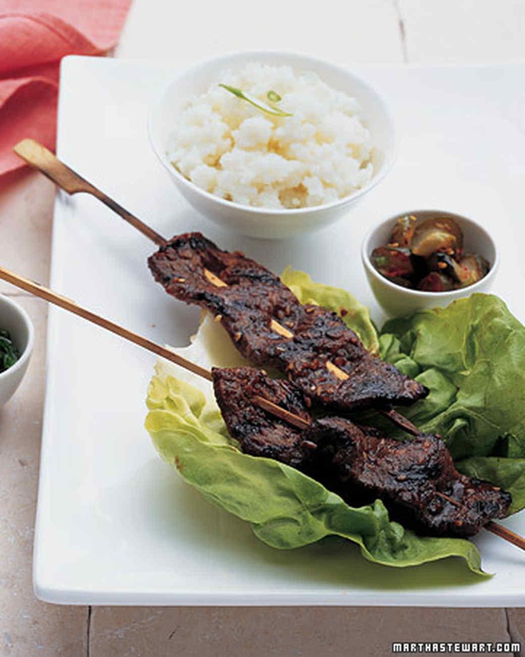 Korean Short Rib Kebabs