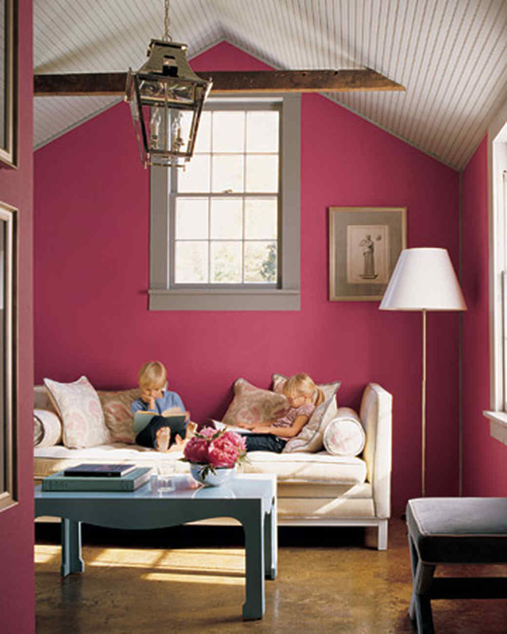 Black and white and pink living room - Bold And Energizing