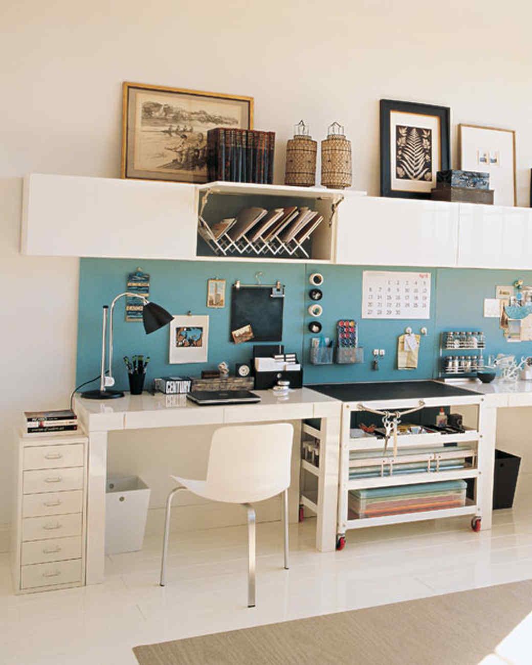 desk organizing ideas martha stewart rh marthastewart com small study storage ideas study table storage ideas