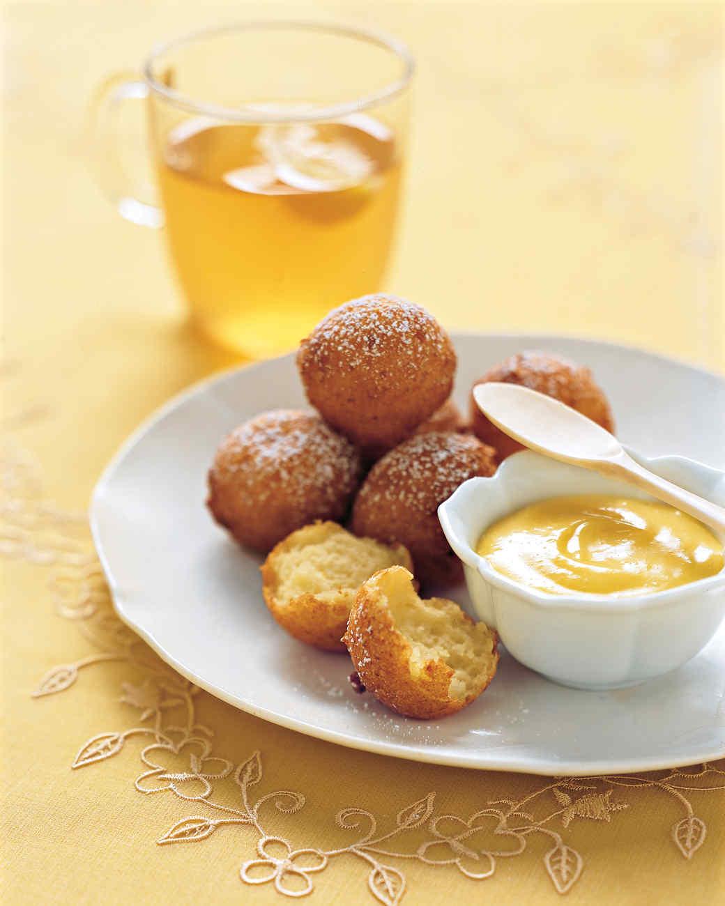 Lemon-Ricotta Fritters with Lemon Curd
