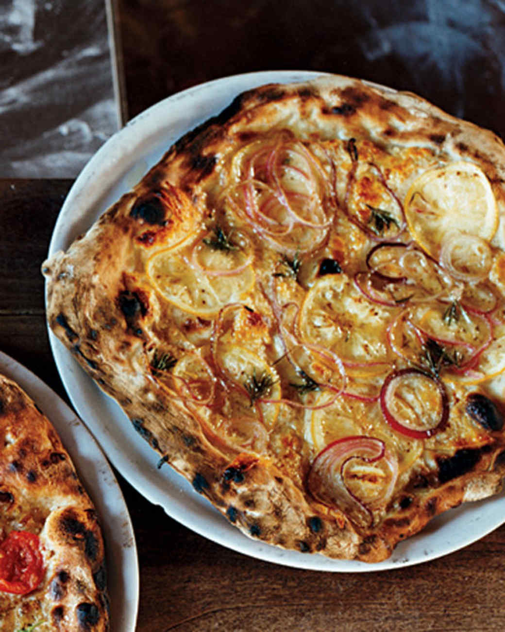 Lemon-and-Piave Pizza