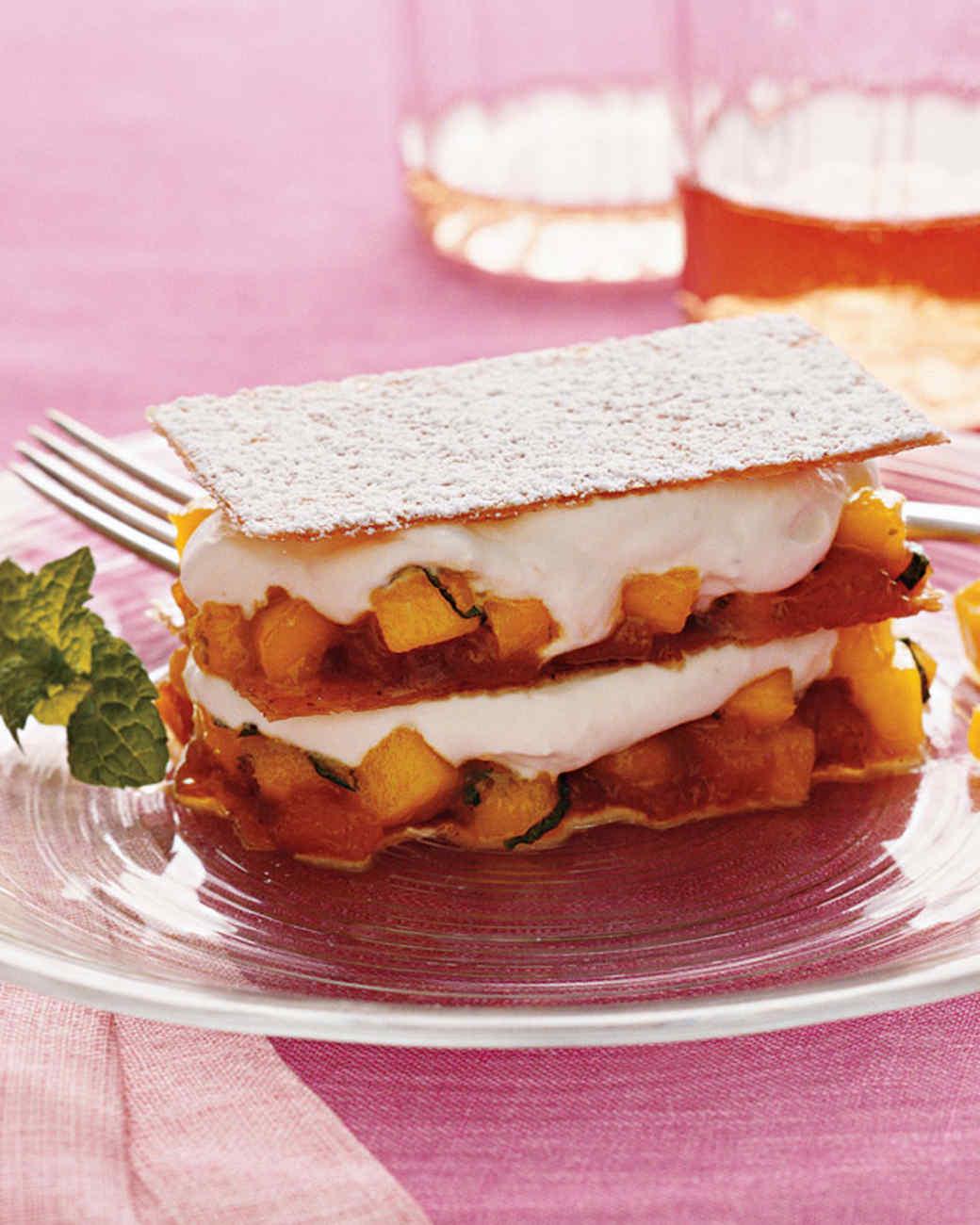 Mango Napoleons with Caramel and Cream