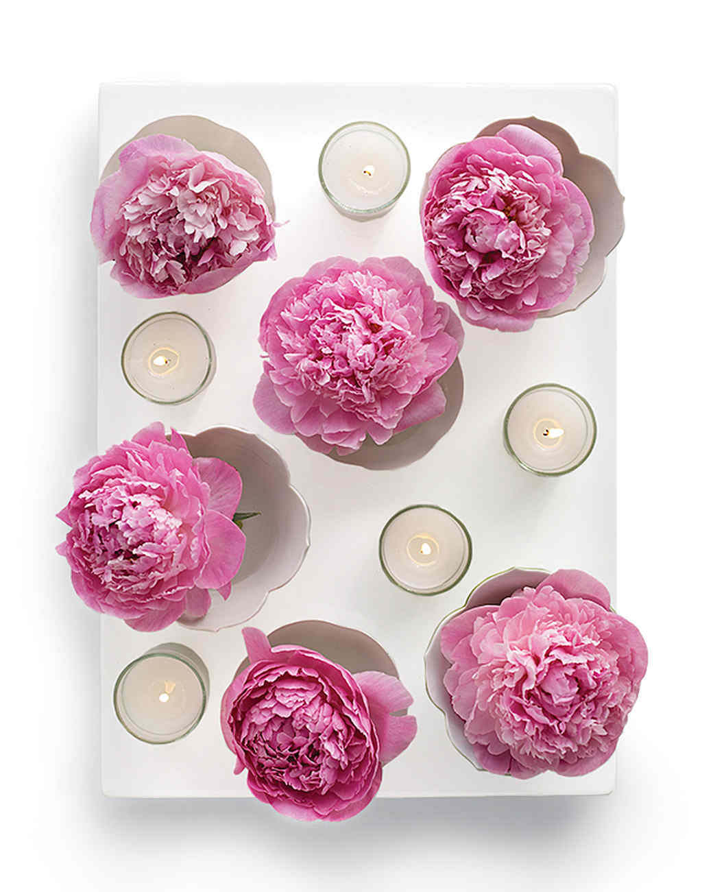 Floating Flowers Platter Centerpiece