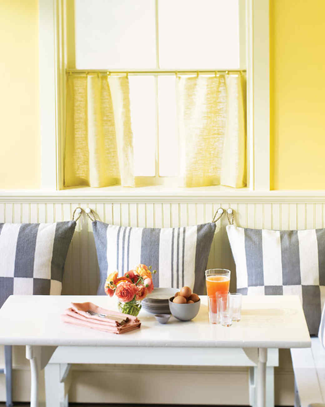 Hanging Dining Nook Pillows | Martha Stewart
