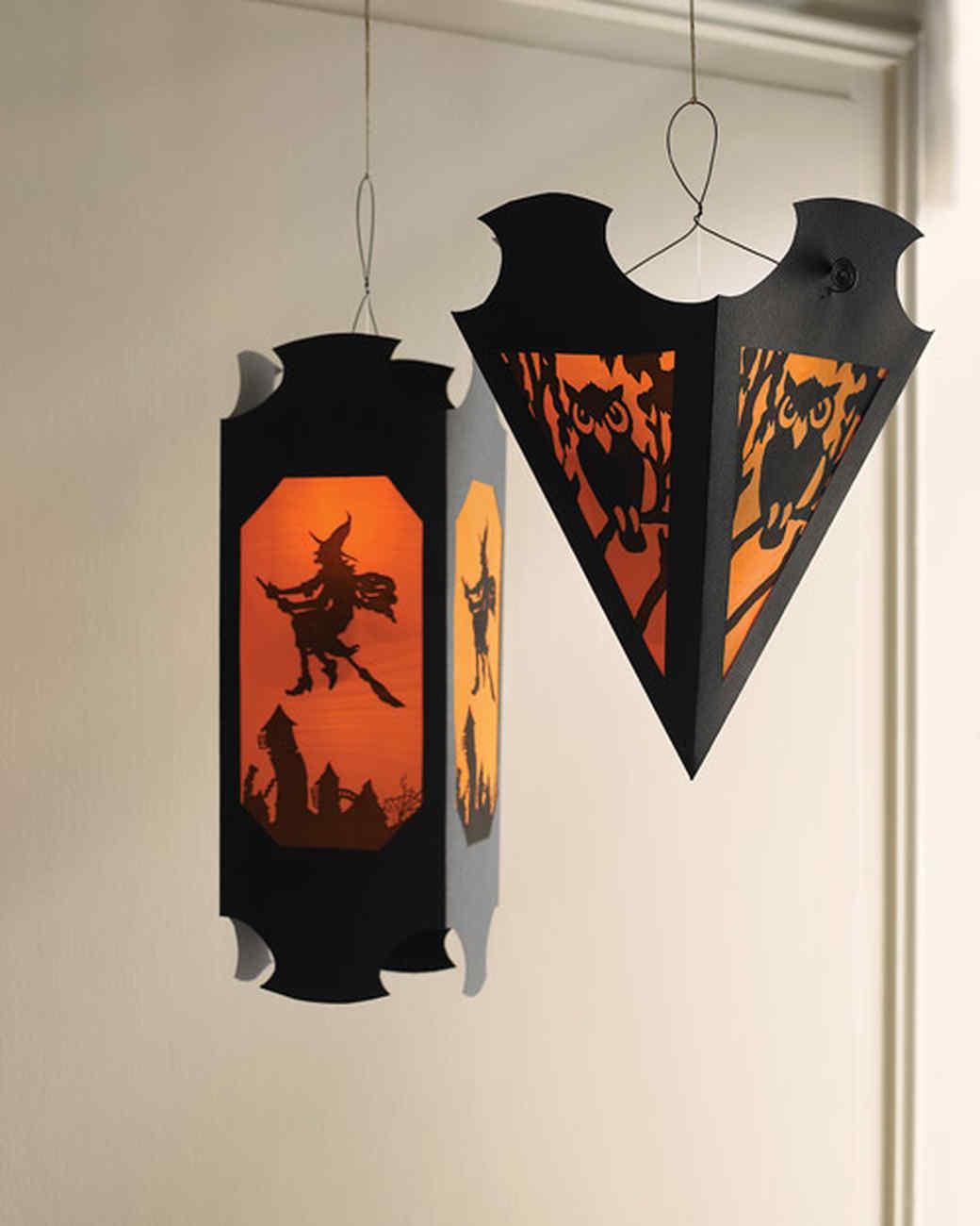 Hanging Vellum Halloween Lanterns
