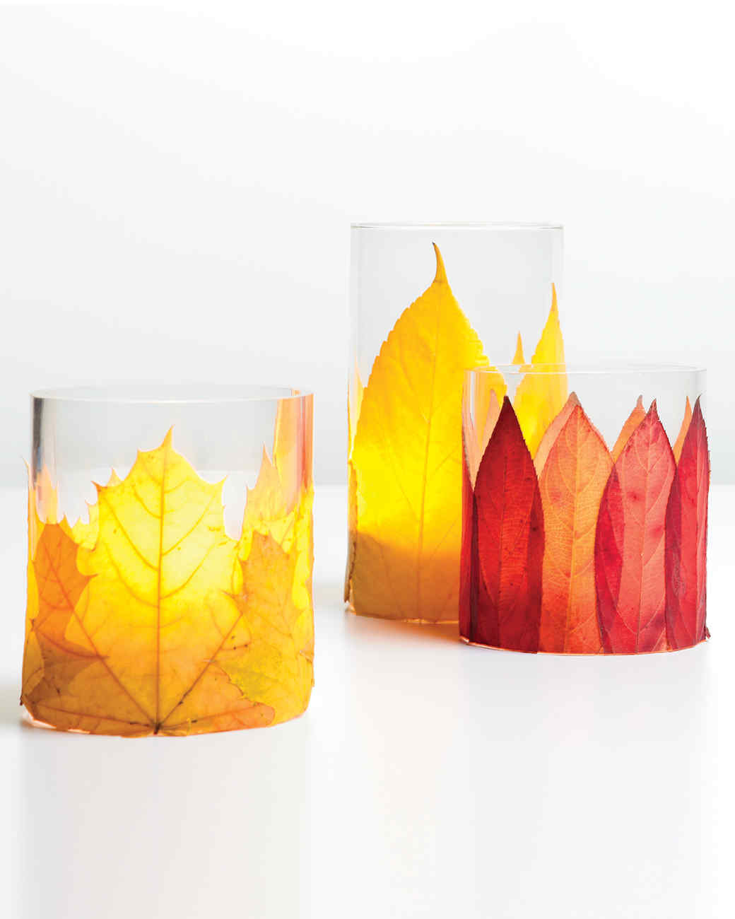 Flaming Foliage Candleholders Martha Stewart