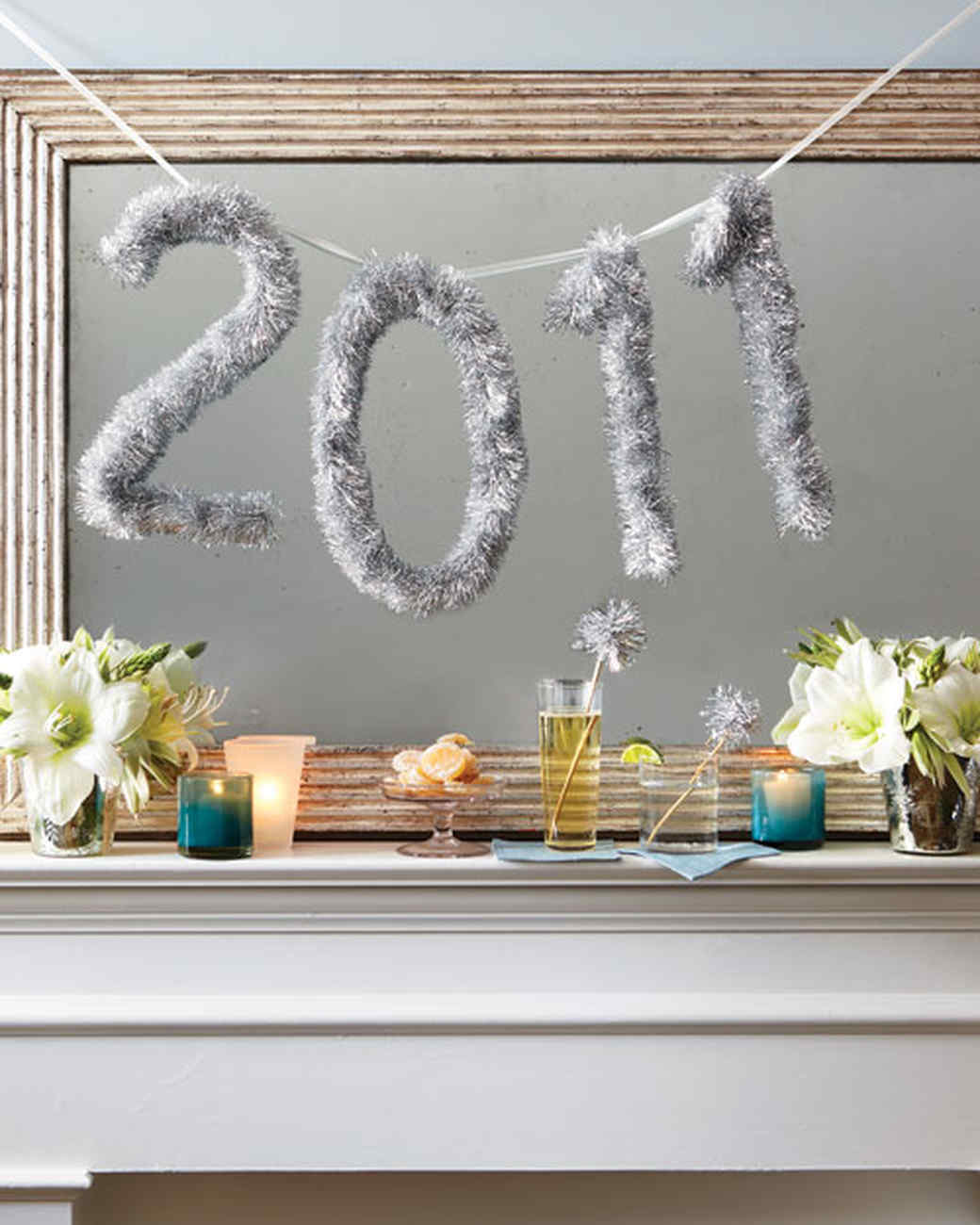 tinsel new years number banner martha stewart