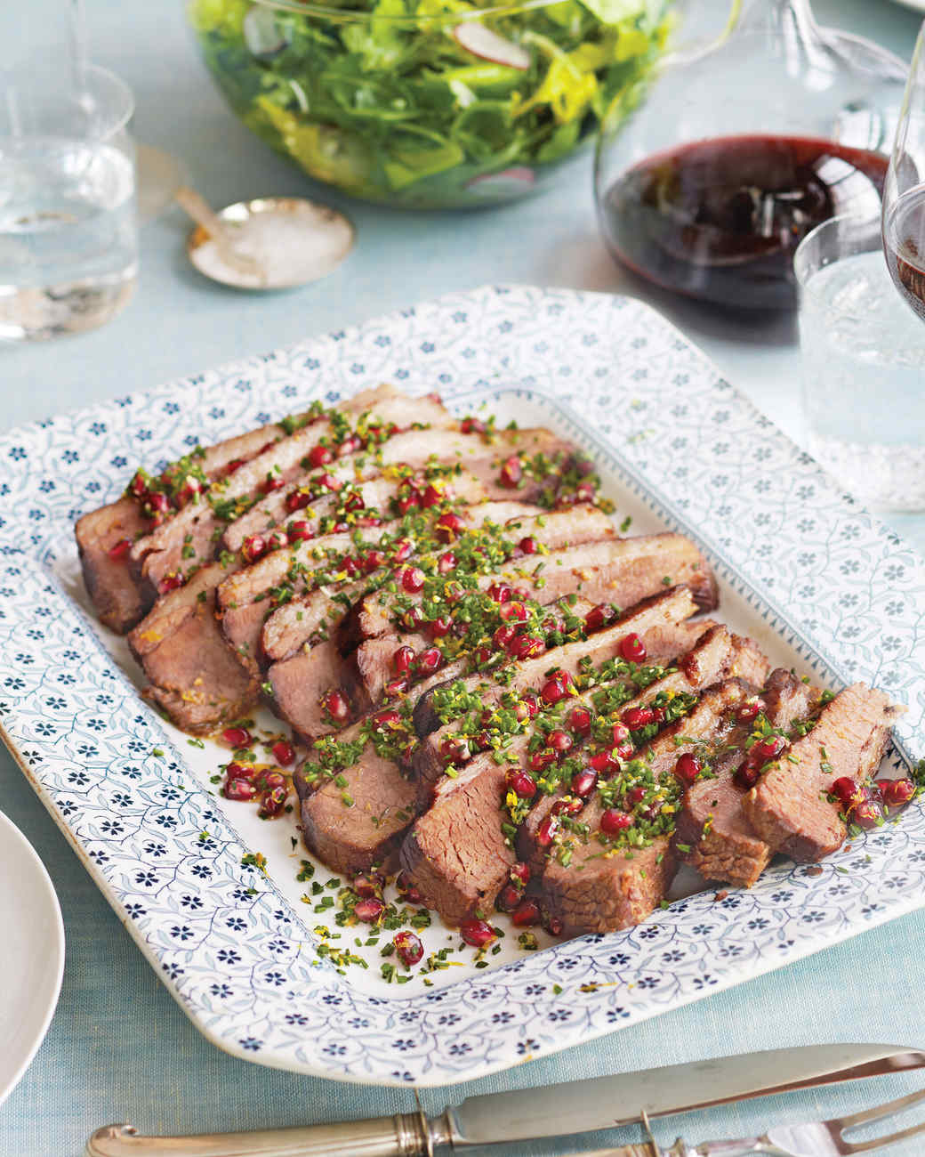 Meyer Lemon Brisket with Pomegranate Gremolata