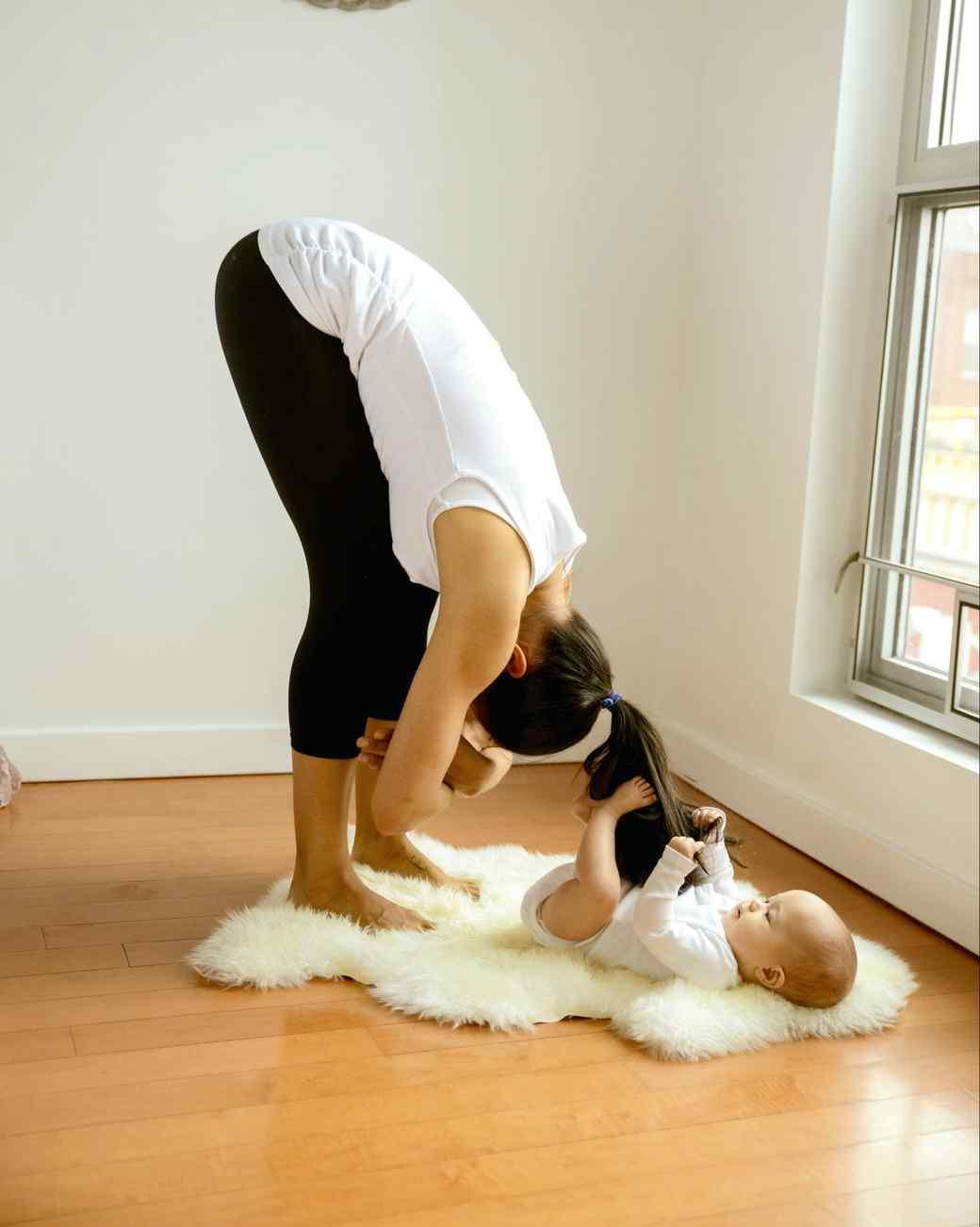 Mommy Yoga Forward Fold