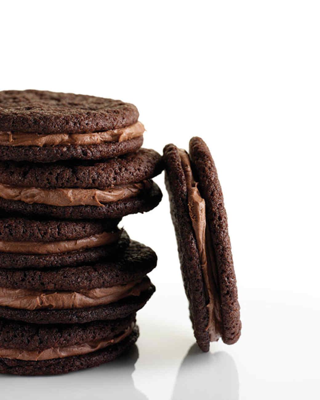 Chocolate-Malt Sandwiches