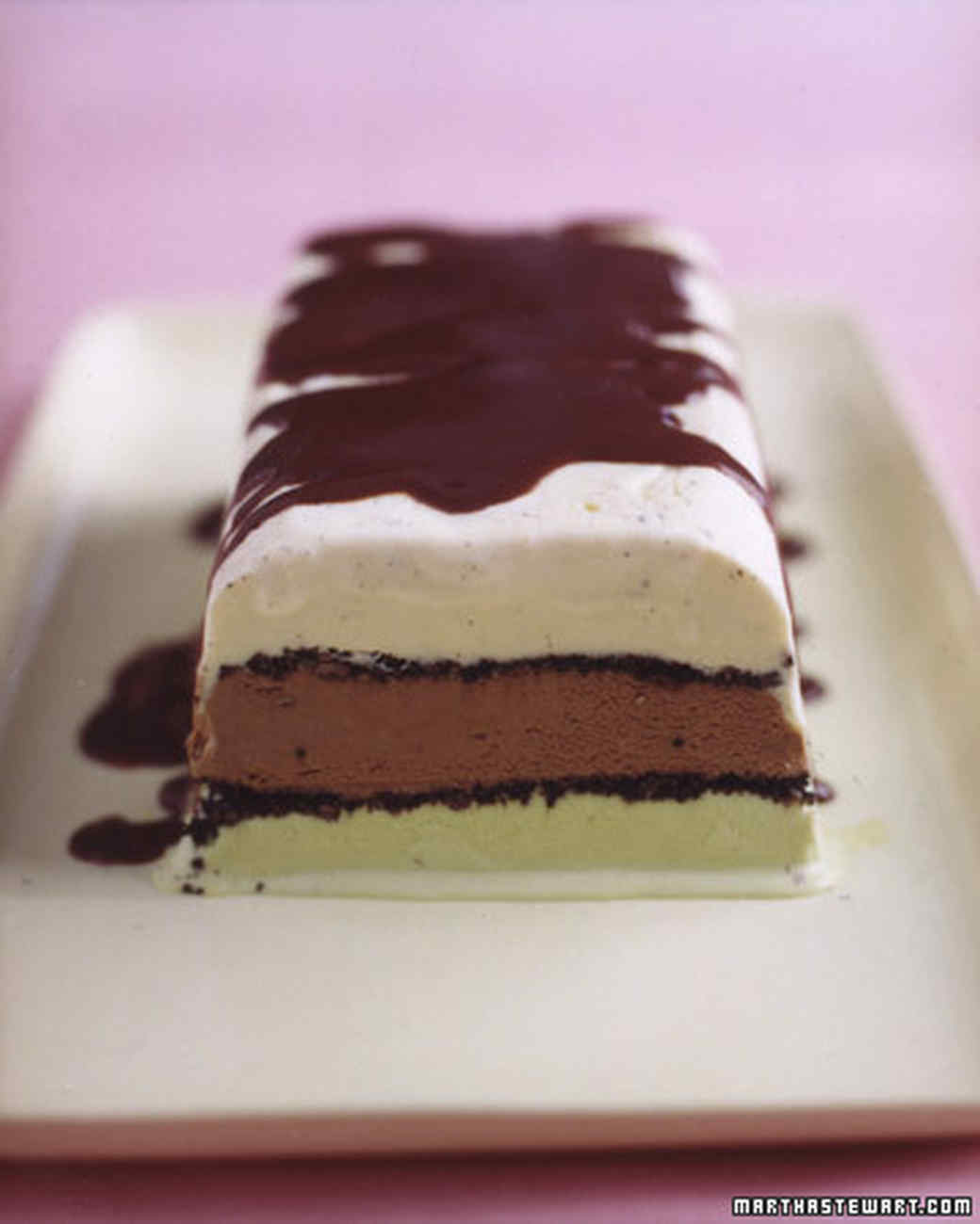 Ice Cream Cake Recipes Pictures : Neapolitan Ice Cream Cake Recipe Martha Stewart
