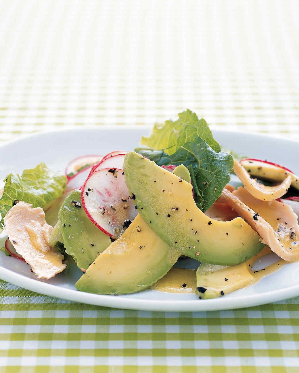 Tuna, Avocado, and Romaine Salad