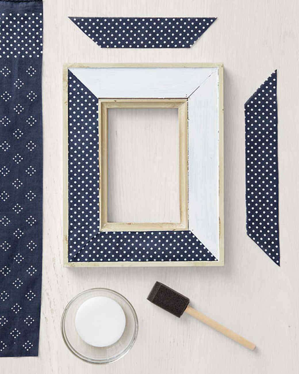 Bandanna picture or mirror frame martha stewart this is essentially a decoupage project only youre gluing down fabric instead of paper jeuxipadfo Image collections