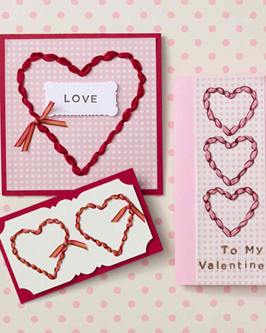 Ribbon-Punched Valentine