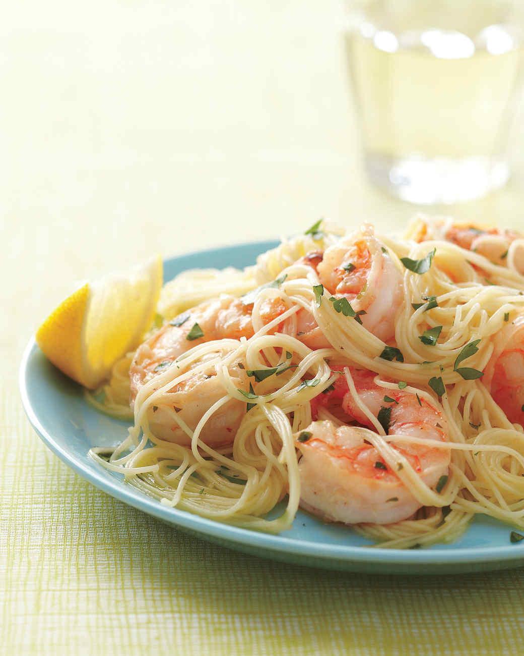 Lemony Shrimp Scampi Recipe & Video | Martha Stewart