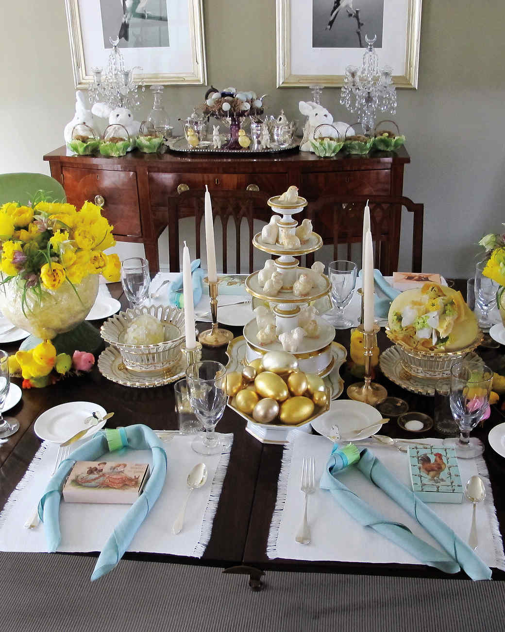 Spring Menagerie : easter table decoration ideas - www.pureclipart.com