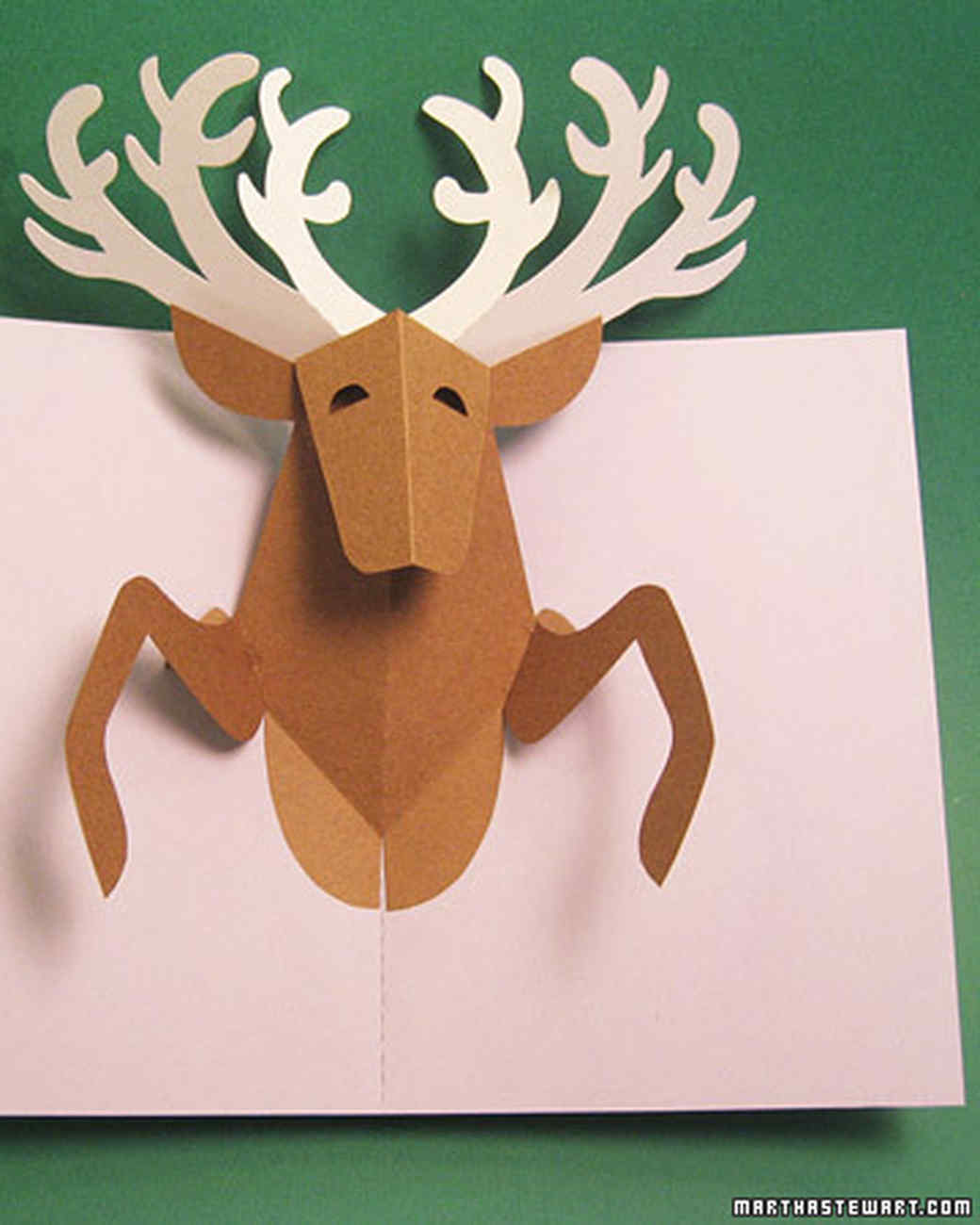 Reindeer Pop Up Card amp Video Martha Stewart