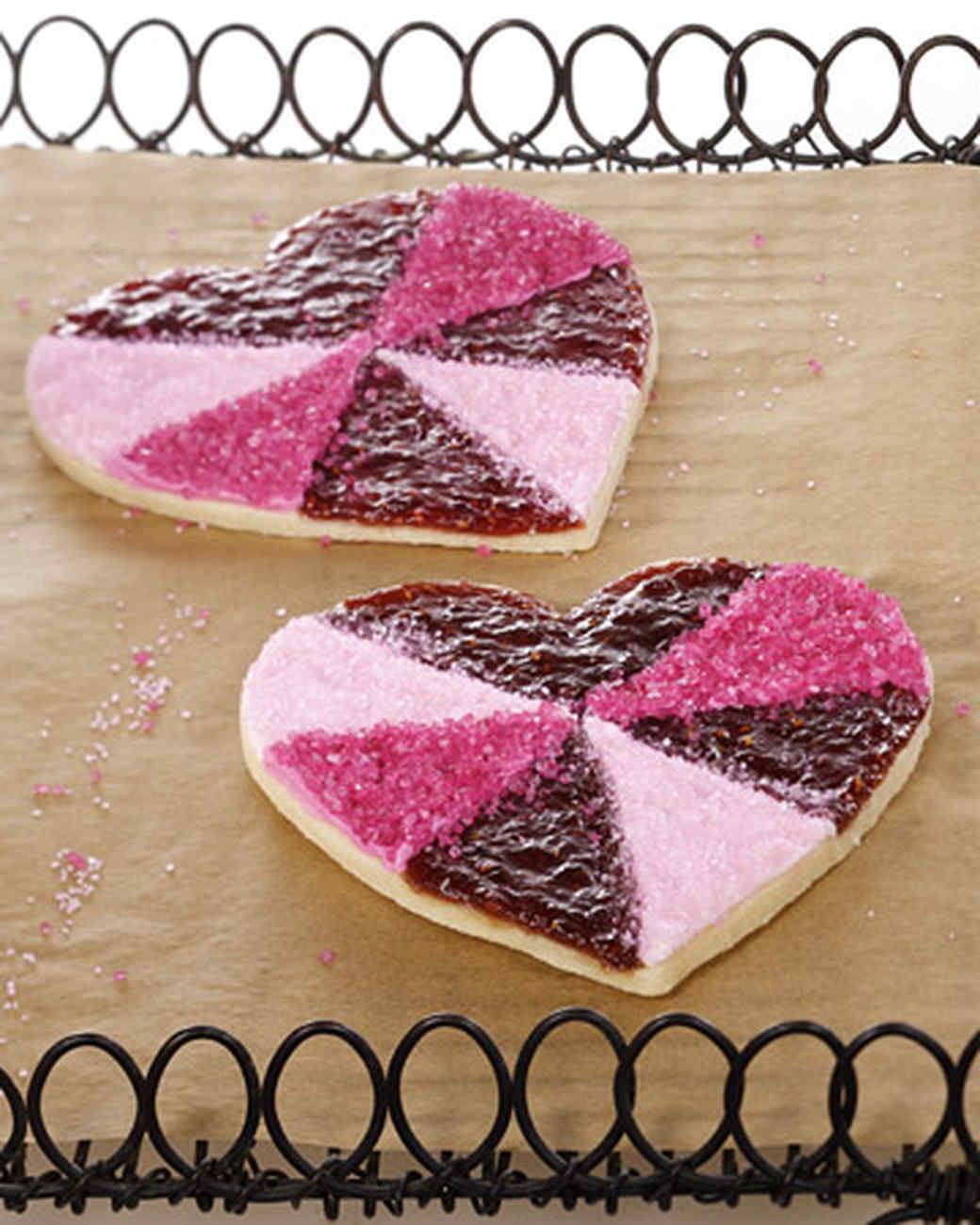 Jewel Heart Cookies