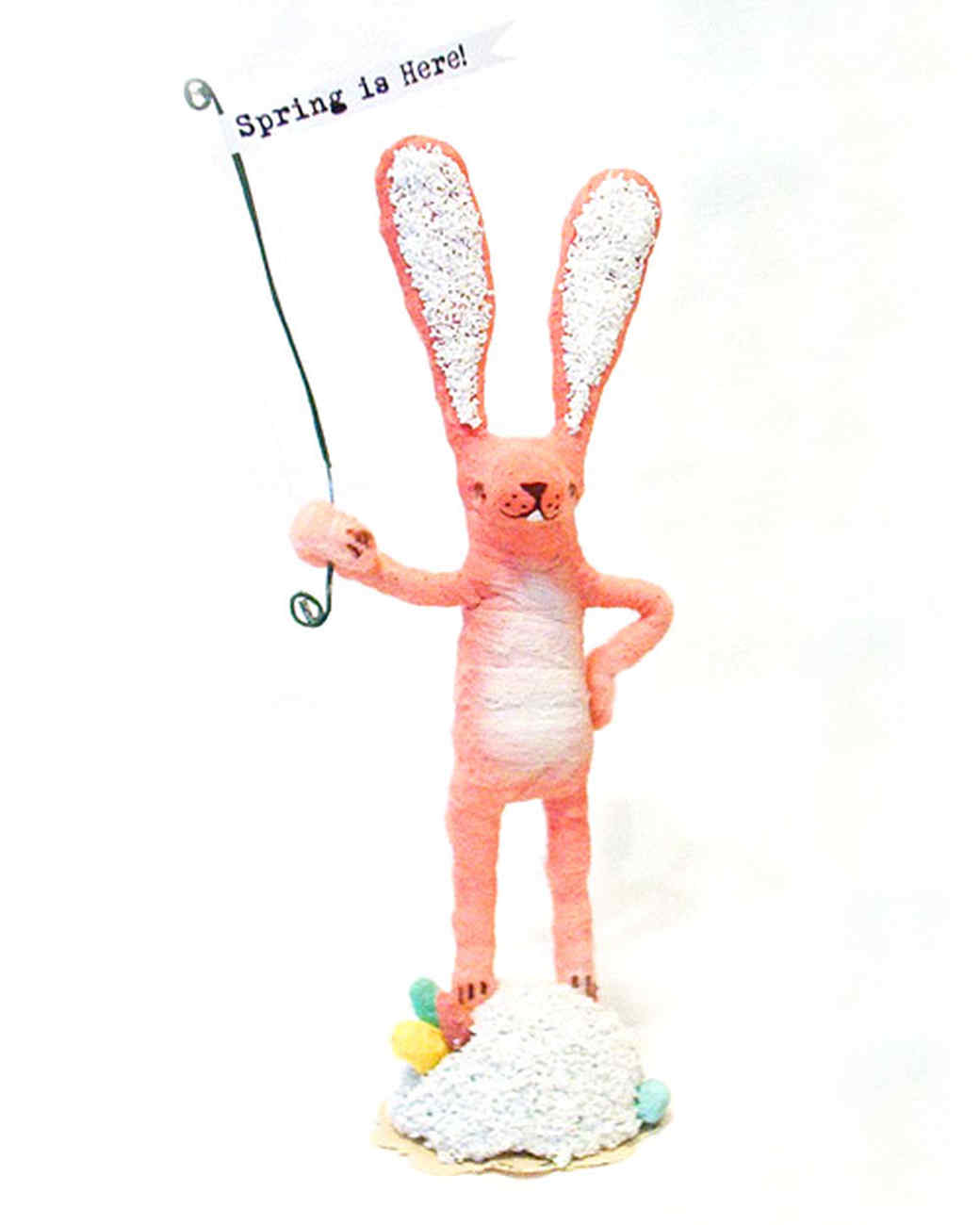 Spun-Cotton Easter Bunny