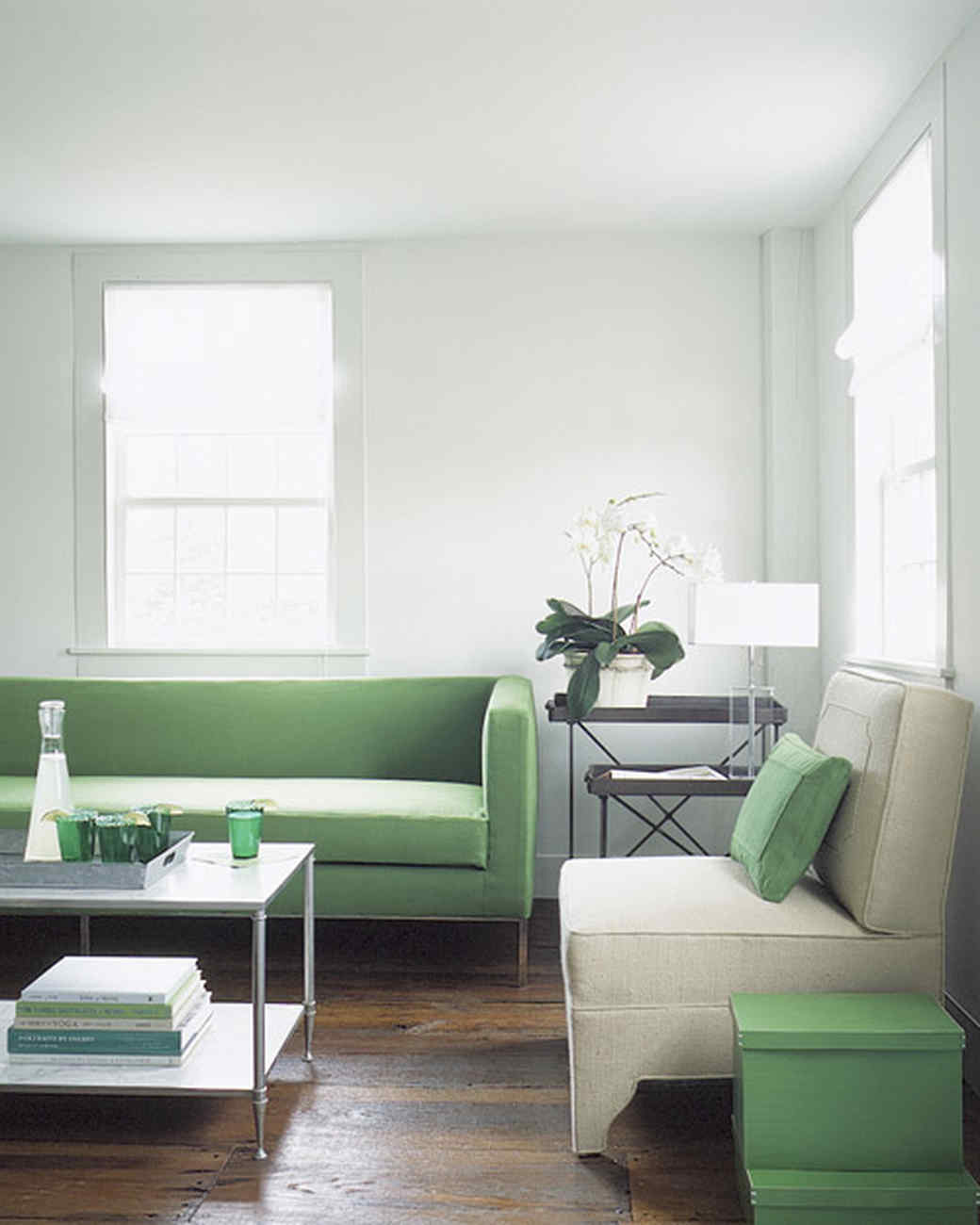 Grey and green living room - Best Of Living S Colorful Rooms