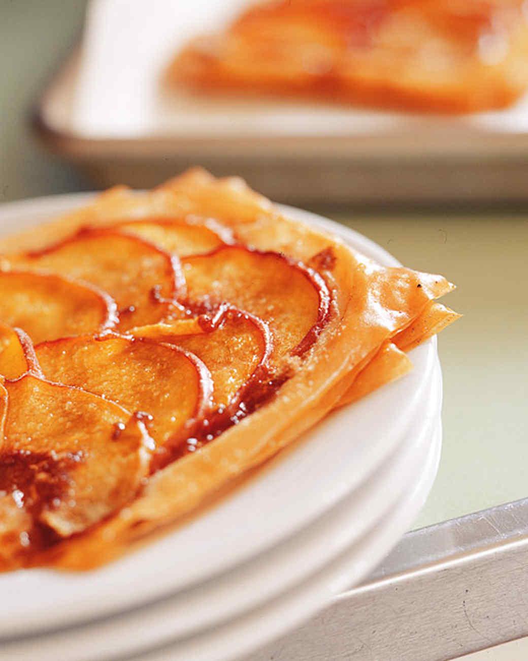 Individual Peach Pastries