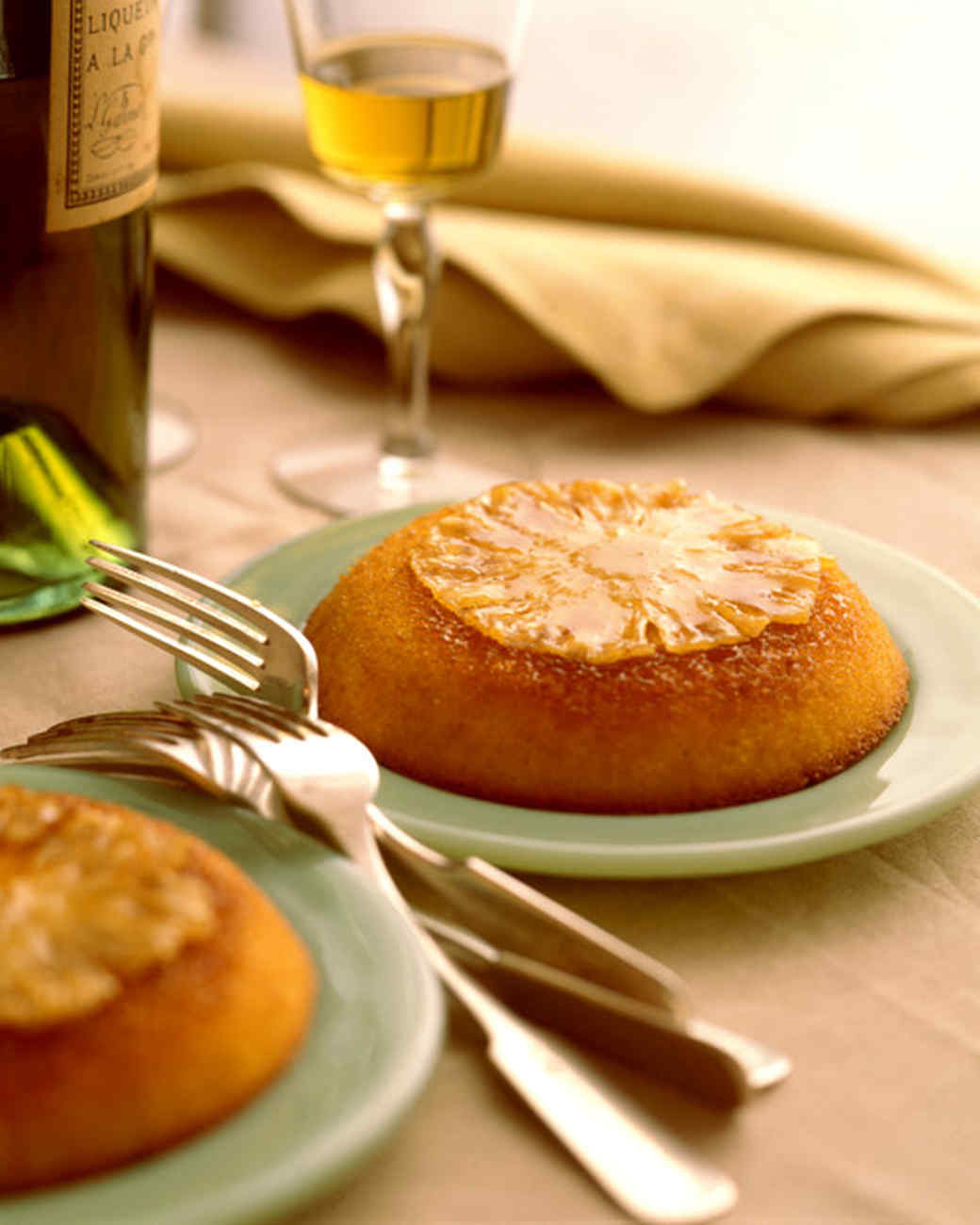 Individual Pineapple Upside-Down Cakes